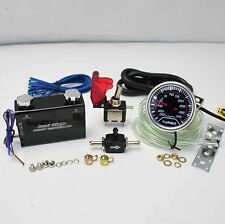 """BLACK DUO SETTING ROCKET SWITCH TURBO BOOST CONTROLLER +2"""" LED 35PSI BOOST GAUGE"""