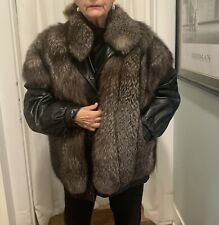 New ListingRaccoon Jacket With Detachable Leather Sleeves