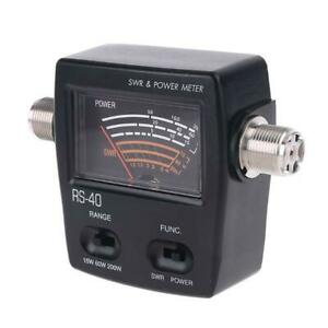 NISSEI RS40 Power SWR Meter RS-Measurable Up to 200W Power Range with Adapter