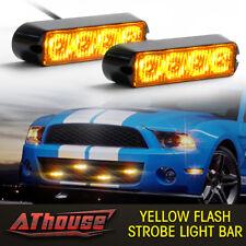 4LED Light Flash Emergency Car Vehicle Warning Strobe Flashing bright Amber