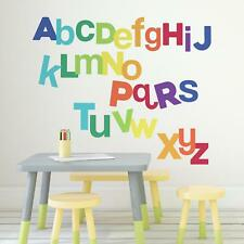 ALPHABET WALL DECALS Giant Letters Stickers Red Blue Green Yellow Purple Orange