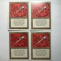 Disrupting Scepter Playset Lot x4 Magic The Gathering Revised Edition MTG HP 94