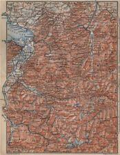 VORARLBERG & BREGENZER WALD. Bludenz St Anton Zürs Lech See Ischgl 1905 map