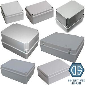 ESR IP56 Enclosure Junction Box Waterproof Exterior PVC Adaptable Plastic Grey