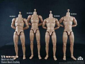 """COOMODEL 1/6 Muscle Male Body Model Flexible Fit 12"""" Figure Head Sculpt"""
