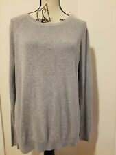 Everlane Sweater Crew Neck Pullover Gray Sz Small Petite Cotton Excellent