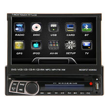 """SALE  Motorized 7"""" HD 1Din In-Dash Car DVD Stereo Player ,BT,Touch Screen"""