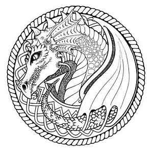 Celtic Knot Dragon Unmounted rubber stamp
