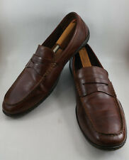 BORN Mens 14 M Simon Brown Leather Slip On Penny Loafers Shoes Moc Toe H04837
