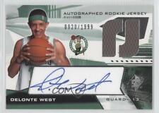 2004-05 SPx Jersey /1999 Delonte West #128 Rookie Auto
