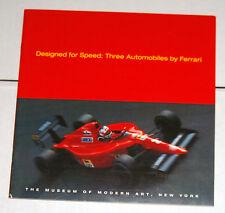 1994 Designed for Speed: 3 Ferrari's at the Museum of Modern Art Program