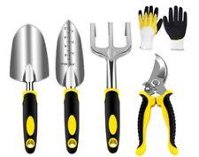 Alu Gartenwerkzeug Set 5 tlg Schaufel,Kelle,Unkrautgabel,Grubber,Handschuhe