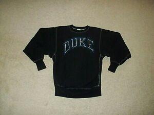 Vintage Rare Champion sewn Duke Blue Devils Studed Black Sweatshirt with Studs