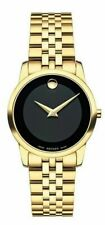 Movado Swiss Museum Classic Gold PVD Stainless Steel Bracelet Watch 28mm 0607005