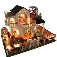 Handgefertigte Miniatur projekt Holz Puppenhaus My Villa Kinder Geschenk_DIY