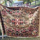 """Italy Velvet Cherub & Rose Tapestry Rug 49"""" x 71"""" Lightweight Floor Wall Decor"""