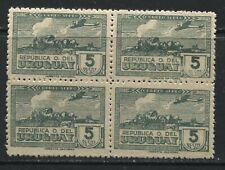 Uruguay 1939 5 pesos Airmail block of 4 unmounted mint NH