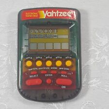 Yahtzee Smoke Clear Handheld Electronic Toy Game Milton Bradley 1995 Tested