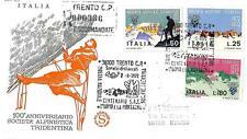 ITALIA REP. - 1972 - Centenario della Società alpinisti tridentini su FDC (A)