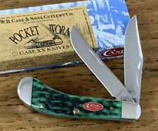 2008 CASE XX BERMUDA GREEN BONE SADDLEHORN POCKET WORN KNIFE TB62110 ITEM 09735