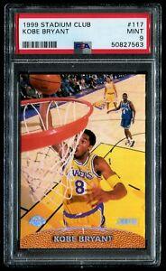 1999 Topps Stadium Club #117 Kobe Bryant PSA 9 Mint