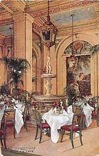 Illinois postcard Chicago, Hotel La Salle, The Donatello Fountain Palm Room 1911