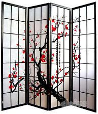 Separè  Paravento 4 ante - Separe' - Paravento, NUOVO, decoraz. fiori ciliegio