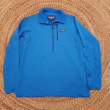 Mens Patagonia R1 PowerGrid Tech Fleece Pullover XL Andes Blue Polartec Zippered