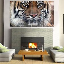 4PCS HD Canvas Print Wall Art Painting Picture Bengal Tiger Unframed Home Decor