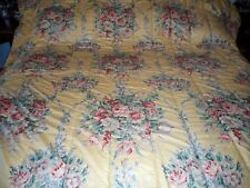 Rare RALPH LAUREN Evelyn Yellow Chintz Floral King Comforter Lillian Garden Gate