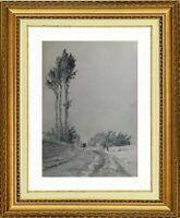 CHARLES WISLIN (1852-1932) SUPERBE PAYSAGE A CERNAY-LA-VILLE EN 1872 (691)