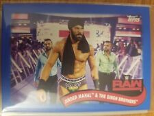 2018 Topps WWE Heritage #TT-13 Jinder Mahal & The Singh Brothers BLUE #d 27/50