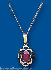 Ruby Pendant Ruby Necklace Yellow Gold Ruby Pendant Natural Ruby Celtic Pendant