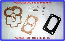 Weber DCD, carburateur rep. Kit, Fiat 1300,1500,1500 L et al.