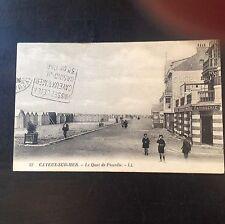 CPA. CAYEUX. 80 - Le Quai de Picardie. Hôtel. Pâtisserie. Cabines. 1926