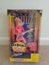 barbie beyond pink doll with guitar and cassette 1998 new