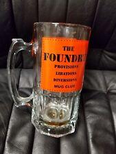 The Foundry Provisions Libations Diversions Mug Club Tall Glass Beer Mug Stein