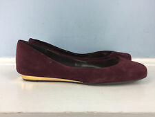 BCBGeneration Burgundy Suede Leather Ballet Flats 7.5 Career Cocktail Excellent