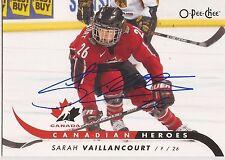 Sarah Vaillancourt Signed 2009/10 O-Pee-Chee Card