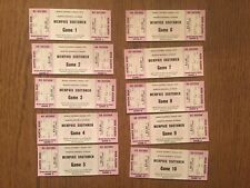 Rare Pink 1975 WFL Memphis Southmen full tickets set (10) Excellent Condition