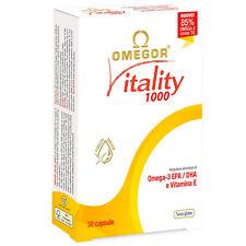 Omega 3 Omegor Vitality 1000 mg Alta Concentrazione EPA E DHA con Vit-E 30 Cps
