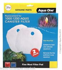 Aqua One Replacement Fine Wool Pad for 1000/1200 39w 2PK - Aussie Seller