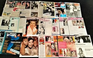 Grace Kelly 30+ assorted magazine clippings: Princess Grace of Monaco & family