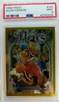 Rare: 1996 96-97 Topps Finest Heirs Gold Allen Iverson Rookie RC, PSA 9 Mint !