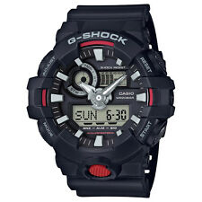 New Casio GA700-1A G-Shock Ana-Digital Super Illuminator Black/Red Men's Watch