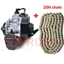 47cc 49cc 2 stroke Engine Motor Mini Pocket Quad Dirt Bike ATV + 25H Drive Chain