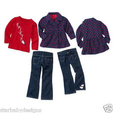 NWT Gymboree HOMECOMING KITTY Outfit Size 3-4 Jacket,TShirt,Denim Jeans LOT
