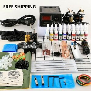 Tattoo Machines With Ink Power Supply Body Art Tools Complete Tattoo Accessories