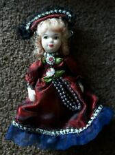 Porcelain Figure dressed Dolls House People Child Dolly 12 cm jointed