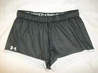 Under Armour Women's Juniors Athletic Shorts Size XS Reversible Black White EUC